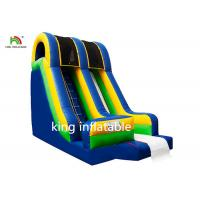 China Blue Inflatable Dry Slip And Slide PVC Tarpaulin Pool Side Entertainment on sale