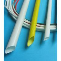 SGS Silicone Rubber Fiberglass Sleeving , Braided Fiberglass Sleeve Extrudgd