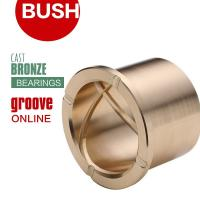 China Precision Flanged Groove Cast Bronze Bushings Spiral Inside Groove Bearings on sale