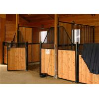 Wholesale Horse Stable Panels Bamboo Plate / Horse Barn With Swivel Feeder from china suppliers