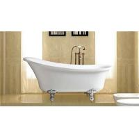 Wholesale Classical 67 Inch Acrylic Soaking Tubs , Zinc Alloy Claw Foot Freestanding Slipper Tub from china suppliers