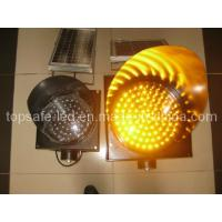Quality High Luminance Anti-High (low) Temperature 300mm Yellow Solar Flashing Light for sale