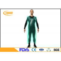 Wholesale Waterproof Sleeveless Disposable Plastic Aprons , Industrial Disposable Plastic Smocks from china suppliers