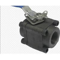 Wholesale API6D 3 Piece Full Bore Ball Valve SW  NPT Ends Forged Steel Material from china suppliers