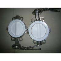 Wholesale Sanitary Full PTFE Coated Wafer Butterfly Valve for hydrofluoric acid, phosphoric acid from china suppliers