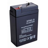 China 6v 2.8ah Sealed Valve Regulated Lead Acid Battery 3FM2.8 ABS for Electric Equipments on sale