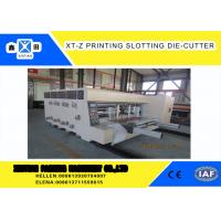 Buy cheap Carton box making Flexo Printing slotter Machine With 100 Pieces / Min Max Speed from wholesalers