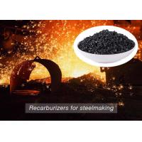 China Low Sulfur Graphite Recarburizer / Calcined Anthracite Coal For Steel Making on sale