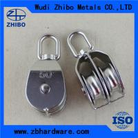 Wholesale High quality Stainless steel double/single pulley,rope pulley blocks from china suppliers