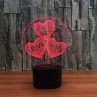 Buy cheap Indoor Acrylic 3D LED Night  Light for Valentines day  Gift ,Decoration LED Light from wholesalers