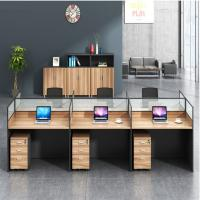 Wholesale Fashion Wooden Cubicles Office Furniture Partitions / 4 Person Workstation Desk from china suppliers