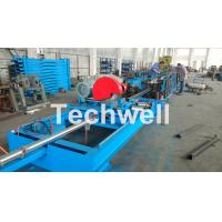 Wholesale Step Beam Rack Roll Forming Machine With Welding Line , Servo Flying Saw Cutting Device from china suppliers