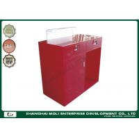 Wholesale Modern Eco - friendly Store Front Counter Furniture Red Color , retail front counter from china suppliers