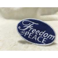 China Cool Uniform Label Custom Embroidered Patches Felt Patches For Clothing Flat Surface on sale