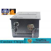Buy cheap Fireproof Official Casino Poker Chip Lockable Cash Box Set With Gaming Poker from wholesalers