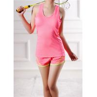 China Summer Cotton Youth Sports Clothing I - Shaped Vest Running Top For Women on sale