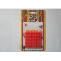 Wholesale Special Orange Stripe Silk Screen Printing Party Pillar Candles for Birthday from china suppliers