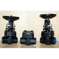 Buy cheap Forged Steel Globe Valve Carbon Steel / Stainless Steel , Flexible Wedge Bolted from wholesalers
