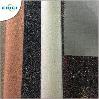 Wholesale Flat Glitter Polyester Fabric Squares , Glitter Clothing Fabric Canvas Backing from china suppliers