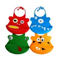 Wholesale Silicone baby bibs With a built in crumb catcher and adjustable clasp from china suppliers