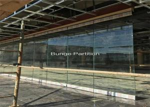 Wholesale Pakistan Exhibition Show Room Folding Glass Partition Wall Under A Steel Beam Install from china suppliers