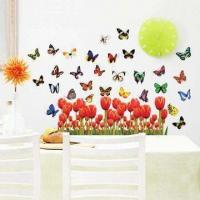 Flying Butterfly Wall Decal With Uv Offset Printing And
