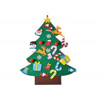 China Kids Felt Christmas Tree Wall Hanging with 26pcs Detachable Christmas Ornaments on sale