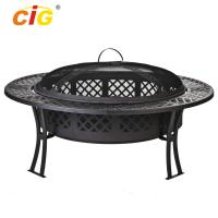 Wholesale Custom 5 Inch Wide Stocked Outdoor Fire Pit With Screen / Cover from china suppliers