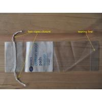 Wholesale LDPE Clear Drawstring Plastic Bags With Perforation For Cotton Wool Pads from china suppliers