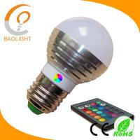 Wholesale G45 colorful led bulb light RGB 3W E27 from china suppliers