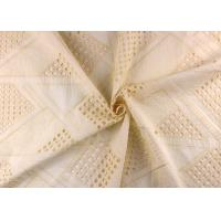 Wholesale Allover Embroidered Eyelet Cotton Lace Fabric For Wedding Dresses With Hollowed Circle from china suppliers