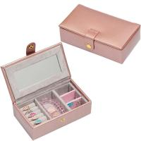 Wholesale Customized Size And Color Velvet Jewelry Box PVC Leather Jewellery Box For Girls from china suppliers