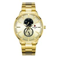 Buy cheap PVD Coating Color Mens Stainless Steel Chronograph Watches , Metal Mens Watches from wholesalers