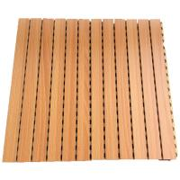 Wholesale Sound Absorption Grooved Acoustic Panel Conference Room Wooden Wall Panels from china suppliers