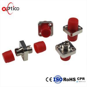 China Bronze Sleeve  Optical Fiber Adapter / D - Type Fiber Optic Couplers on sale