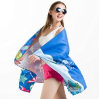 Wholesale Imprinted Striped Sublimated Beach Towels Antimicrobial Comfortable Skin Friendly from china suppliers