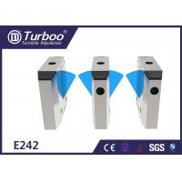 Quality Multiple Sensors Flap Barrier Turnstile Access Control For Metro Station for sale