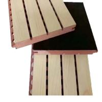 Wholesale Polyester Fiber Wooden Sound Absorption Wall Panel / Acoustic Sheets Soundproofing from china suppliers