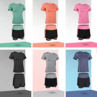 Wholesale SGS Yoga Running Suit Womens Training Tight Shorts In Stitching Design from china suppliers