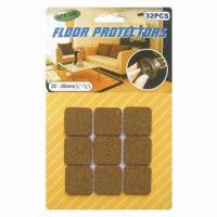 China Self Adhesive Cork Floor Protectors/Furniture Pads, Made of Cork Material on sale