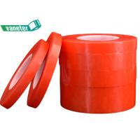 China Red Film Removable Double Sided Adhesive Tape / Double Sided Film Tape on sale
