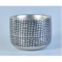 China Custom Silver Ceramic Candle Holders / ceramic pillar candle holders 520 ml on sale