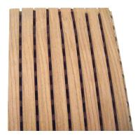 Wholesale MDF Acoustic Sheets Soundproofing Sound Grooved Wood Acoustic Panels from china suppliers