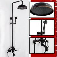 Wholesale New Antique Black Bronze Brass Two Handles Rainfall Shower Faucet TS638B from china suppliers