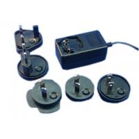 Wholesale Interchangeable plug power adapter 12V 1A AC/DC switching power supply with EU,UK,AU,USA from china suppliers