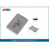 Wholesale Handy Compact Mifare RFID Reader , Smart Chip Card Reader Writer USB Support Power from china suppliers