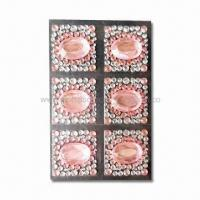 Wholesale MP4 Player/Cell Phone Stickers, Decorated with Crystal and Rhinestones, Made of Acrylic from china suppliers