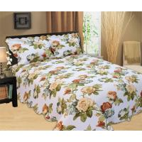 Wholesale Microfiber Printed Queen Size Bed Quilts , Optional Colors Bed Cover Sets from china suppliers