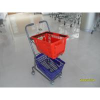 Wholesale 4 Swivel 3 Inch PVC Casters Supermarket Shopping Trolley Used In Small Shop from china suppliers