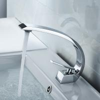 Wholesale Silver Color Bathroom Basin Faucets , Compact Contemporary Faucets Long Life from china suppliers